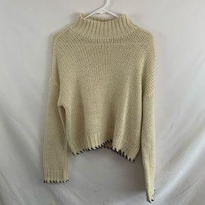 Tillys Retrod beige chunky knit sweater